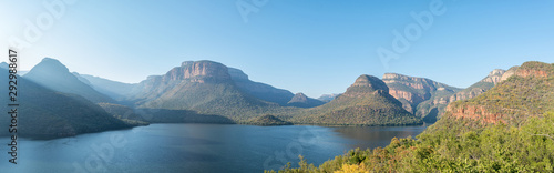 Panorama of Blyderivierspoort Dam and the Blyde River Canyon Canvas Print