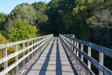 Train Truss Bike Bridge Over The New River In Southwest Virginia