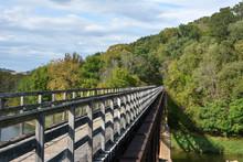 Train Truss Bike Bridge Over T...