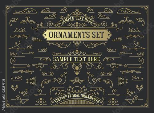 Fotografía  Antique set of swirls and scrolls design elements