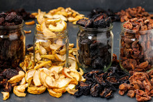 Homemade Dried Apples, Plums, ...