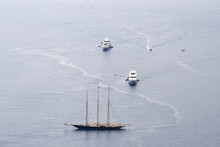 The Luxury Of New Yacht Versus The Classicism Of The Sailboat