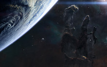 Beautiful Deep Space. Planet, ...