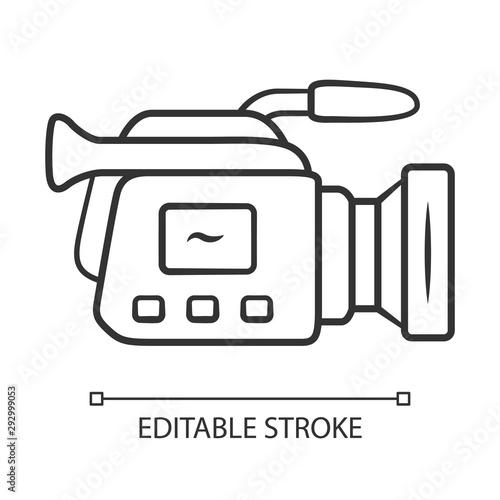 Valokuvatapetti Camera linear icon