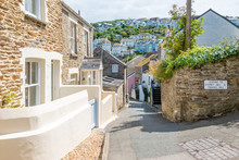Old Stone Cottages On Narrow S...