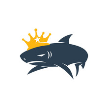 Shark King Logo Design Vector ...
