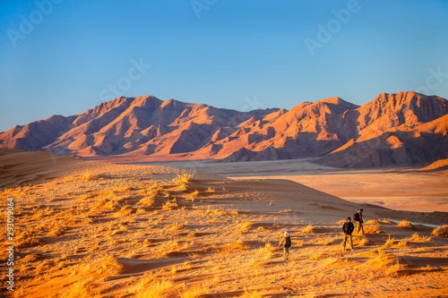 Family in Namib desert