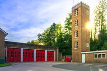 Facade Of Old Fire Station Wit...