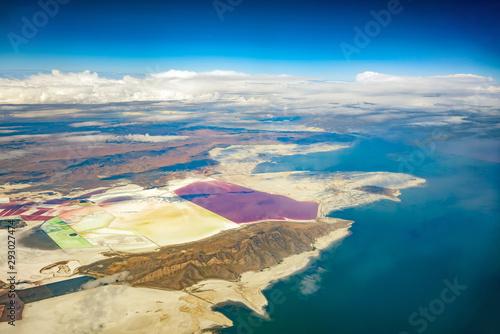 Fototapeta  Aerial view of the Great Salt Lake