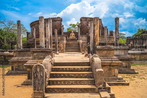 Stampa su Tela Sacred Quadrangle at Polonnaruwa Ancient city, Sri Lanka