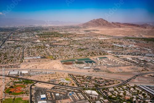 Fotografie, Obraz  Aerial view of the Las Vegas cityscape