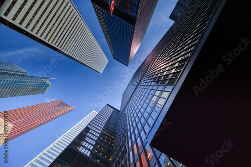 Scenic Toronto financial district skyline and modern architecture Canvas Print