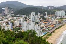 View From Top Of The Hill Of The Careca In Balneario Camboriu In Santa Catarina