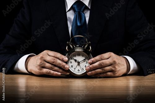 Obraz na plátně ビジネスマン 時間 コピースペース