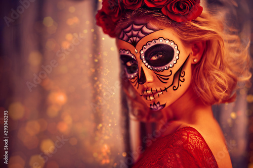 bright beautiful Muerta Canvas Print