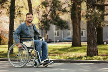 Young Man In Wheelchair At Par...