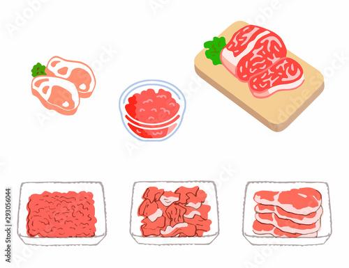 Pinturas sobre lienzo  食肉 いろいろ
