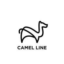 Camel Line Modern Logo Icon De...