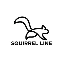 Squirrel Line Modern Logo Icon Design Vector Illustration