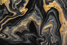Black Marble Background With G...