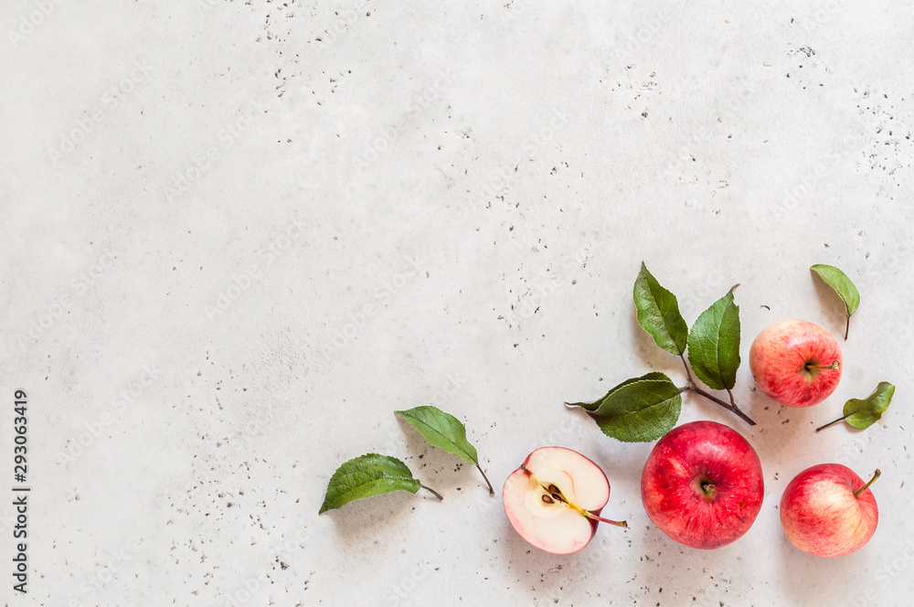 Fototapety, obrazy: Red Apples, Copy Space