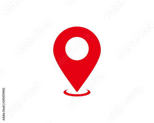 Fotografie, Obraz Pin map icon symbol vector