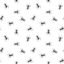Seamless Pattern With Ants. En...