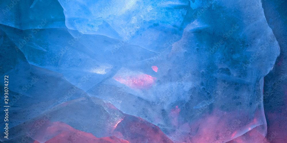 Fototapety, obrazy: Multicolored glow ice texture background