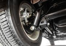 Closeup Of A Rear Suspension O...