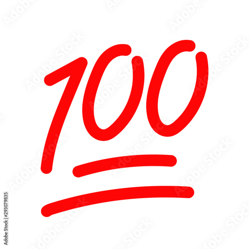 hundred logo icon vector template Canvas Print