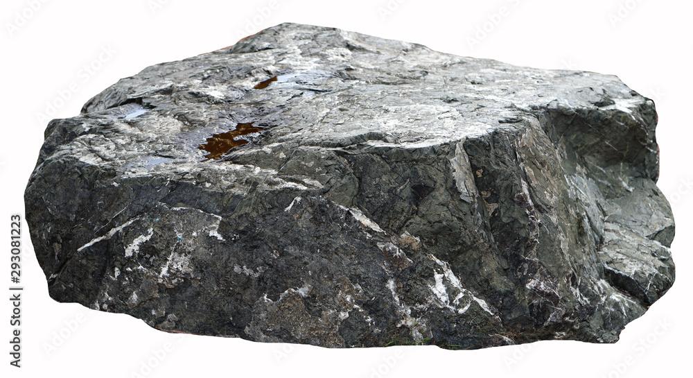 Fototapeta Set of stones white background. Clipping Path