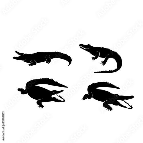 Foto crocodile logo icon design vector illustration