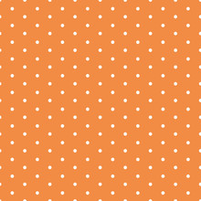 Orange Dotted Seamless Background With Polka Dot Ornament Made In Autumn Orange Color