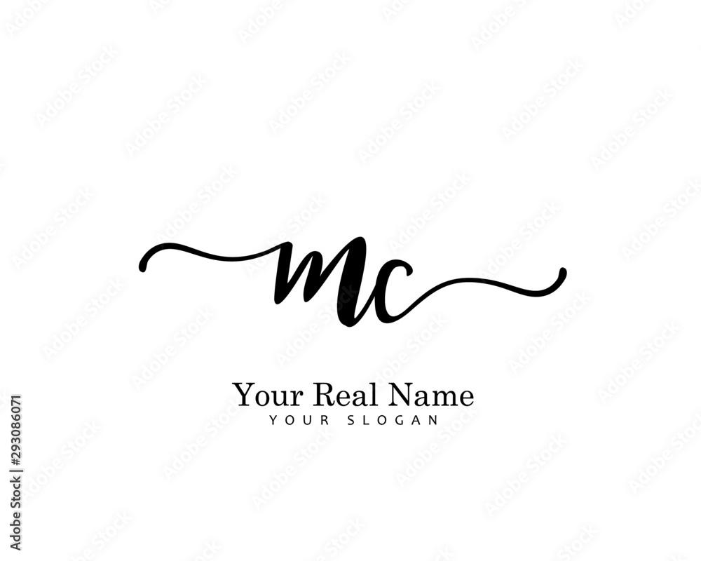 Fototapeta MC Initial beauty monogram logo vector