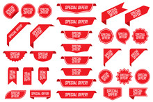 Set Of Special Offer Labels In...