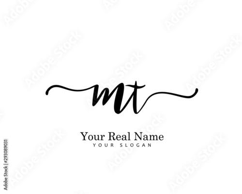 Fotografie, Obraz MT Initial beauty monogram logo vector