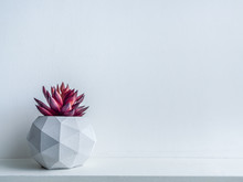 Concrete Pot. Modern Geometric Concrete Planter.