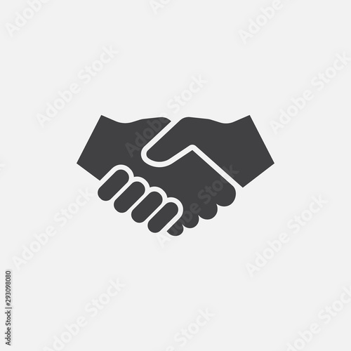 hand shake icon logo design, hand shake illustration, agreement icon
