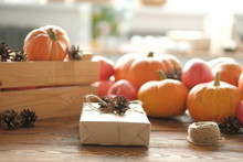 Gift Boxes With Pumpkins Garla...