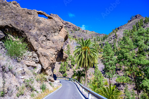 Soria Valley with beautiful landscape scenery - Canarian island Gran Canaria, Spain
