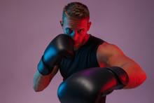 Sports Man Boxer Make Boxing E...