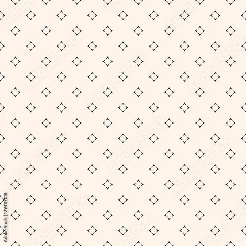 Tapety Beżowe vector-minimalist-seamless-pattern-with-tiny-star-shapes-square-figures