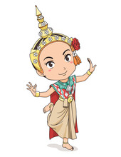 Cartoon Character Of Tradition...