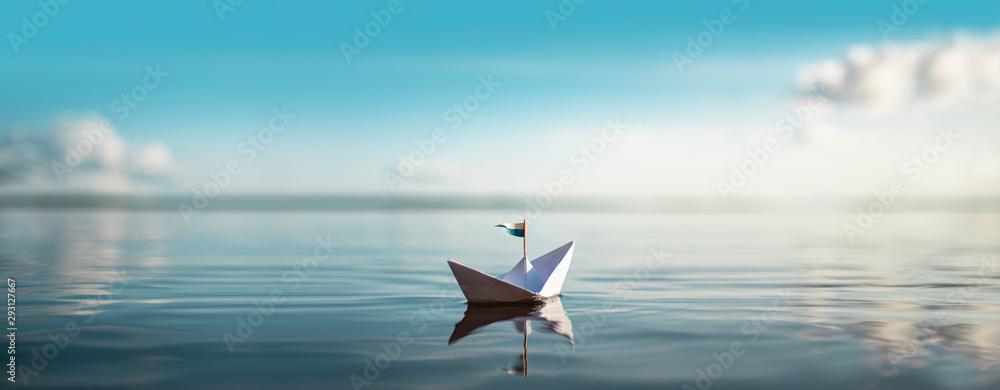 Fototapeta Great XXL Paper Boat Panorama