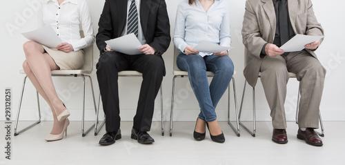 Fotografía Recruitment recruiting recruit hiring hire - concepts.