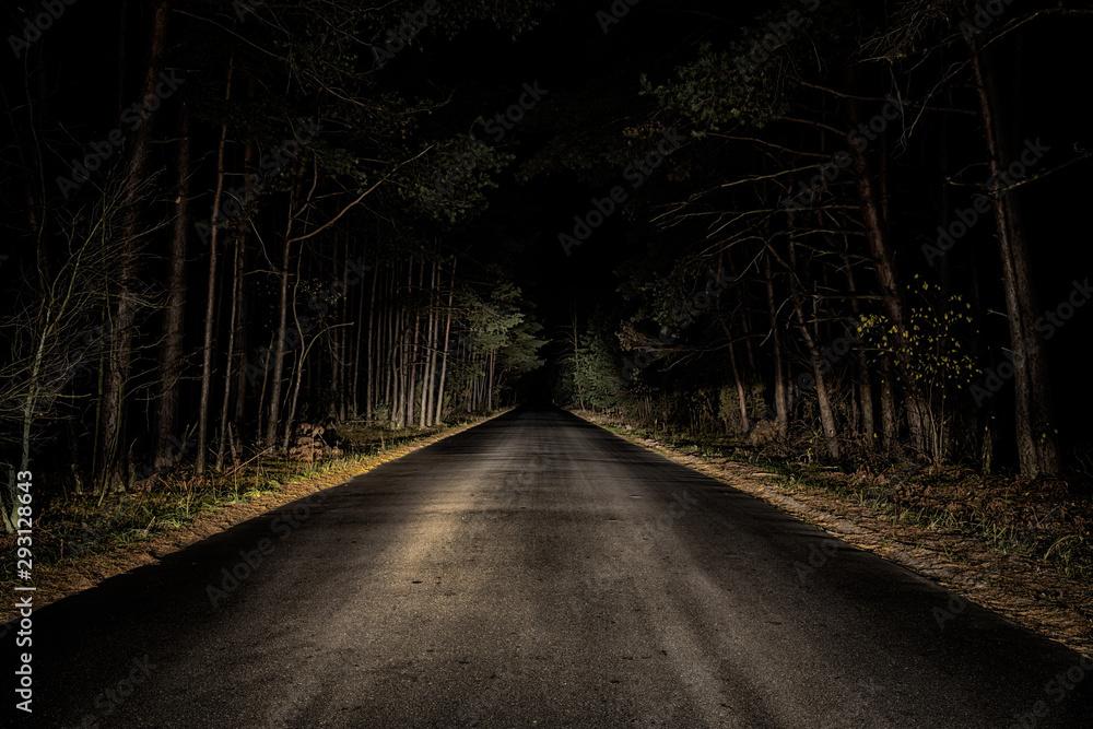 Fototapeta Night Road
