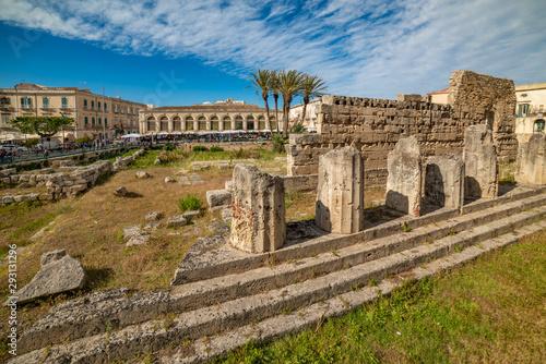 Temple of Apollo in Ortigia, Syracuse, Sicily Wallpaper Mural