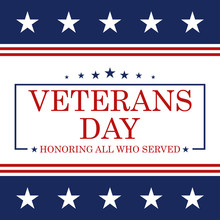 Veterans Day Background. Templ...