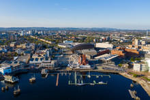 Aerial View Of Cardiff Bay, Th...