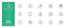 Set Of Zero Waste Line Icons -...